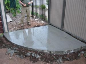Bottom slab, freshly poured