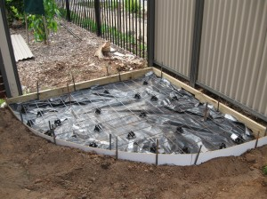Bottom slab ready to pour