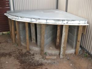 Top slab, freshly poured